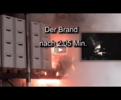 CalanCool Frostschutz für Sprinkleranlage / Brandschutzanlage - Film über Brandversuch mit Plastik