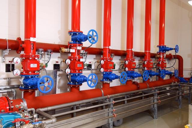 Calanbau Sprinklerzentrale Schieber