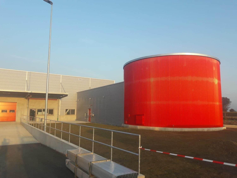 Calanbau Sprinklertank Logistikzentrum