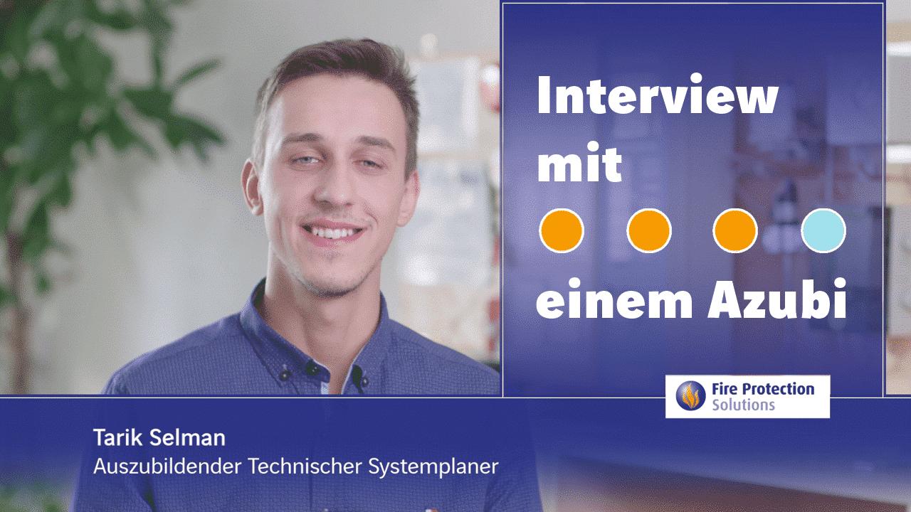 Ausbildung im Brandschutz: Ausbildung zum_zur Technischen Systemplaner_in. Ein Interview mit unserem Azubi.