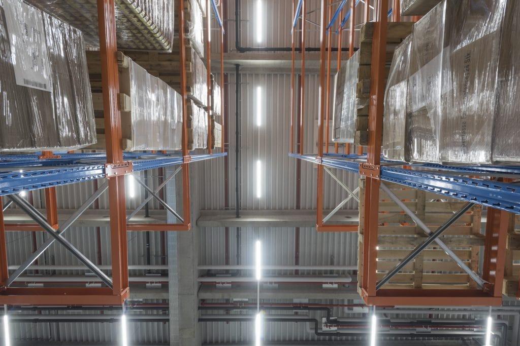 Brandschutz Feuerschutz Calanbau Hallendach mit Sprinkler