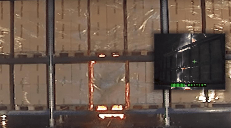 CalanCool® Frostschutz für Sprinkleranlage : Brandschutzanlage - Film über Brandversuch mit Kartons