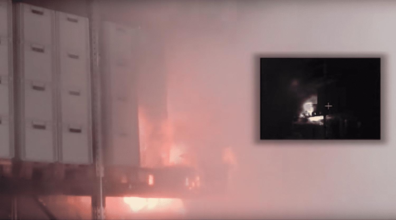 CalanCool Frostschutz für Sprinkleranlage : Brandschutzanlage - Film über Brandversuch mit Plastik