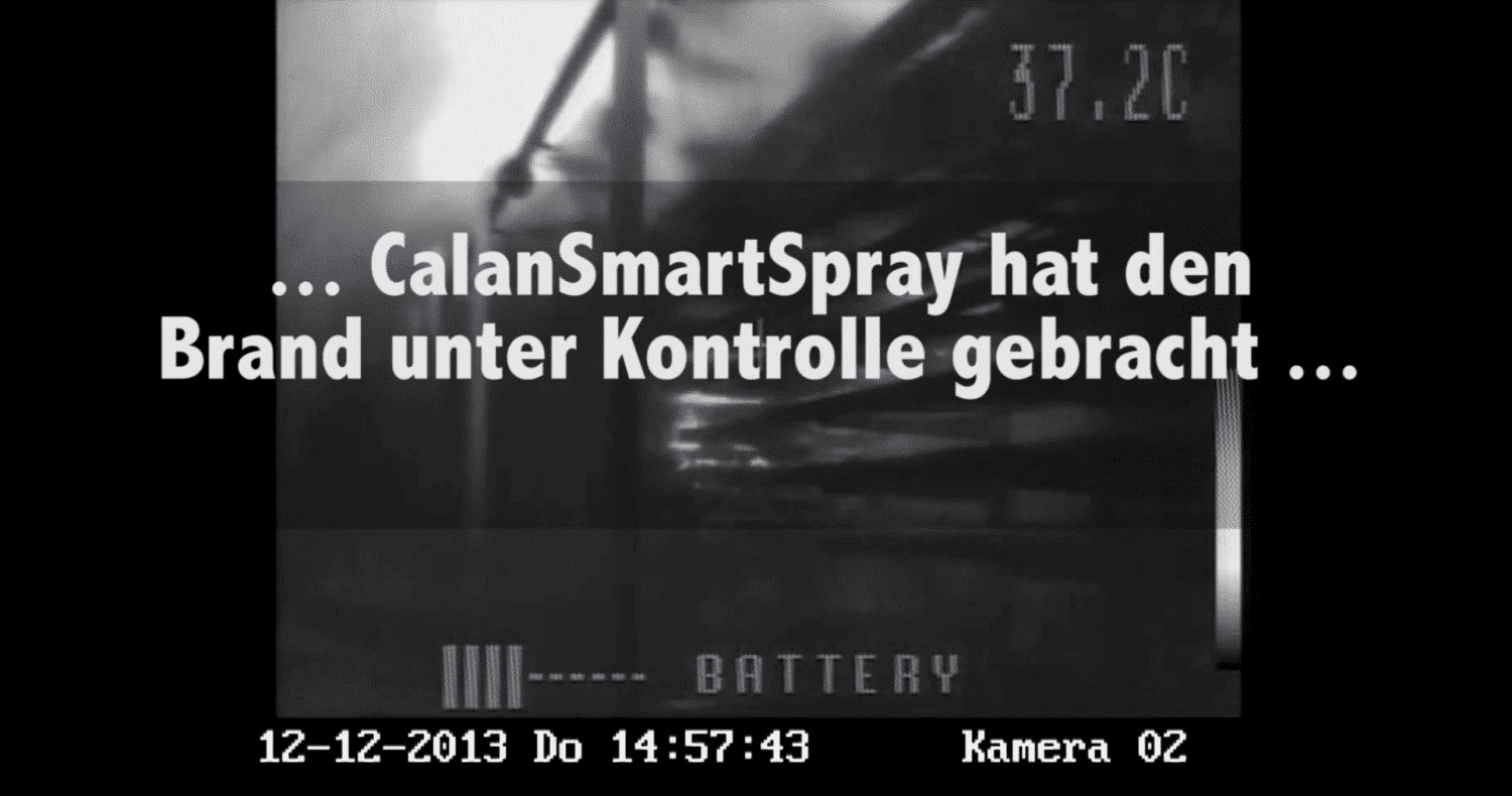CalanSmartSpray Brandversuch Video