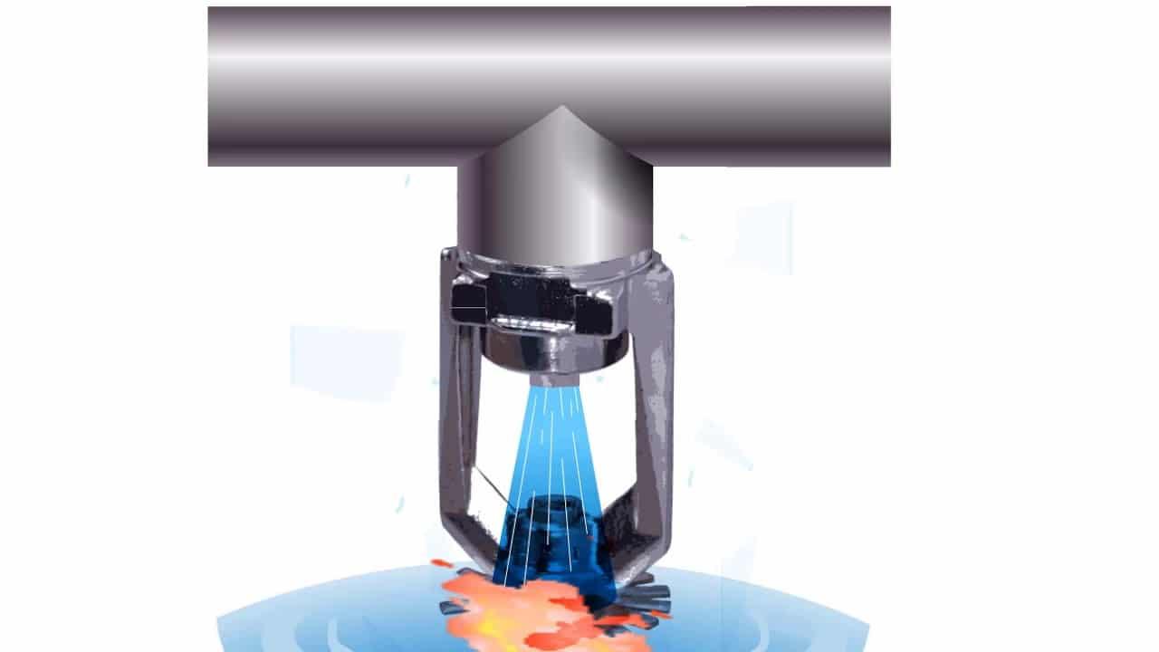 Wie löst ein Sprinkler aus - Sprinklerauslösung Brandschutz Feuerschutz