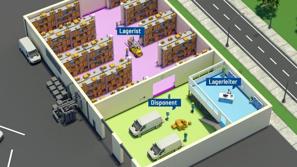 Einsatzorte und Tätigkeitesbereiche der Fire Protection Solutions Gruppe Ansicht der Jobs in Lagern: Lagerist, Lagerleiter, Disponent
