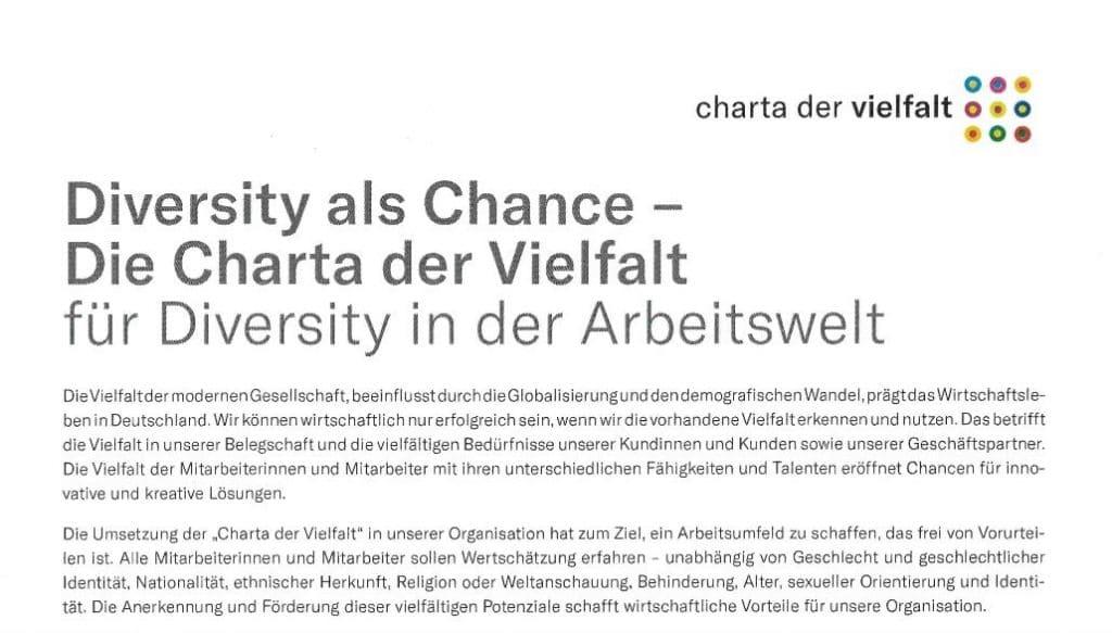 Home/Aktuelle Informationen der Fire Protection Solutions Gruppe/Allgemein/VINCI Deutschland unterzeichnet Charta der Vielfalt VINCI Deutschland