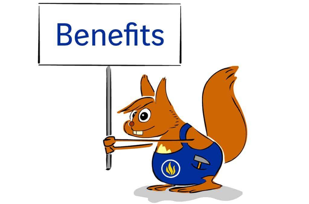 Entdecken Sie die Benefits in der Fire Protection Solutions Gruppe gemeinsam mit unsere Maskottchen Kalli!