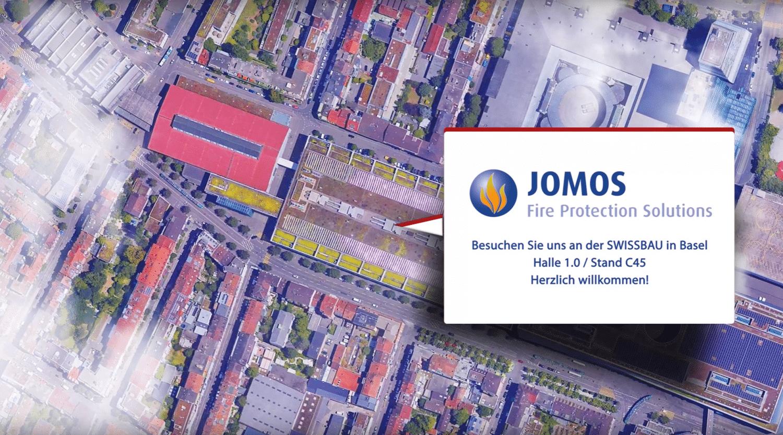 JOMOS Brandschutz AG auf der Swissbau 2020, Stand C45 in Halle 1.0