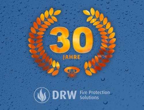 Firmenjubiläum der DRW Delitzscher Anlagenbau GmbH:  30 Jahre zuverlässiger Brandschutz!