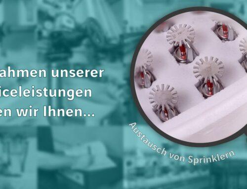 Austausch von Sprinklern   Unsere Serviceleistungen #9