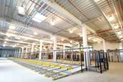 Wesergold - Sprinkleranlage im Hochregallager von Getränkeindustrie