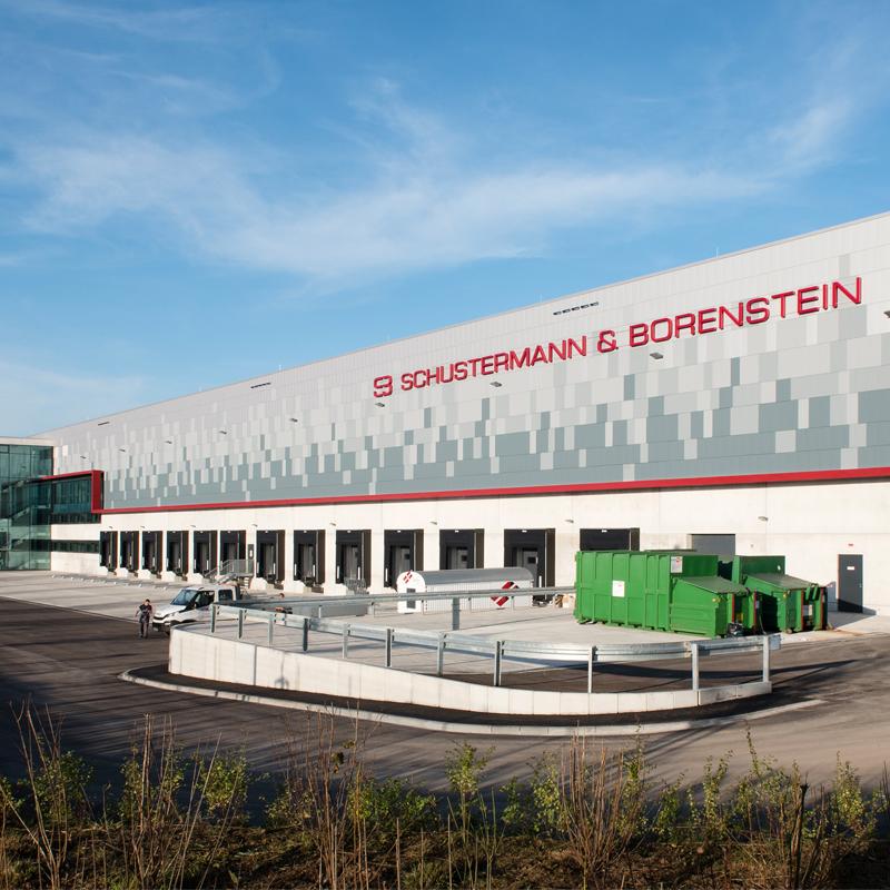 Schustermann & Borenstein, Poing - Sprinkleranlage im Hochregallager für Versandhandel